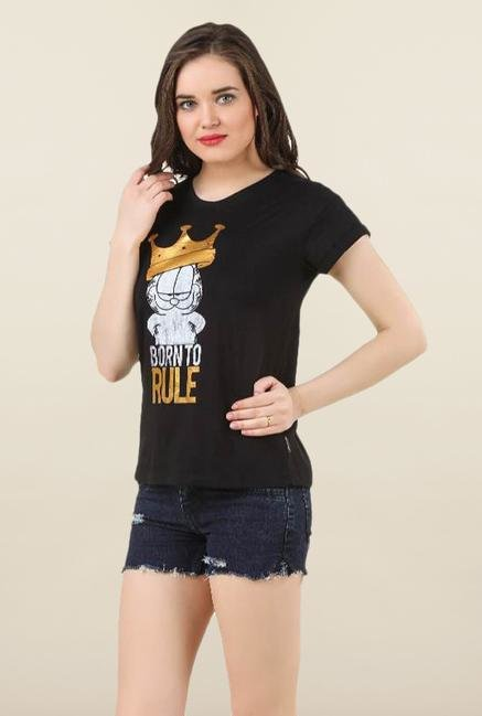 Garfield Black Cotton Top