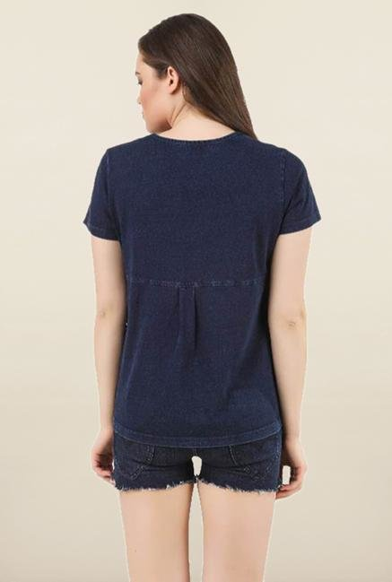 Sherlock Blue Cotton Top