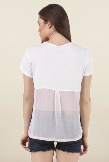 Marilyn Monroe White Ombre Top