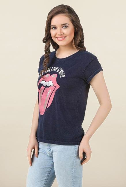 Rolling Stones Blue Cotton Top
