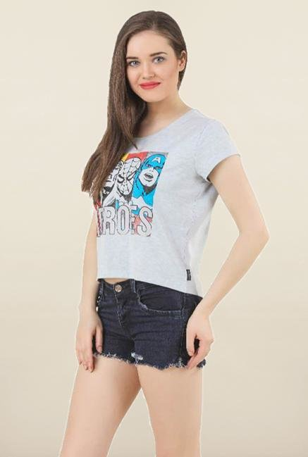 Marvel Comics Blue Printed Top