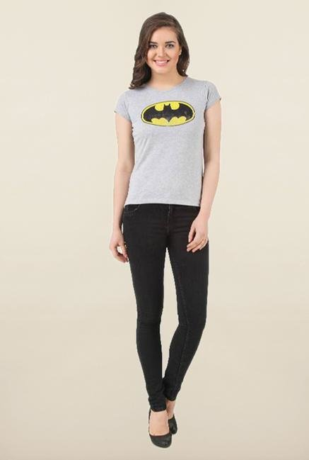 Batgirl Grey Crew Neck Top
