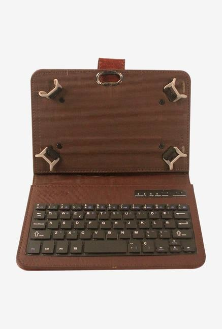 Callmate 8 Inch Universal Bluetooth Keyboard with Case Brown