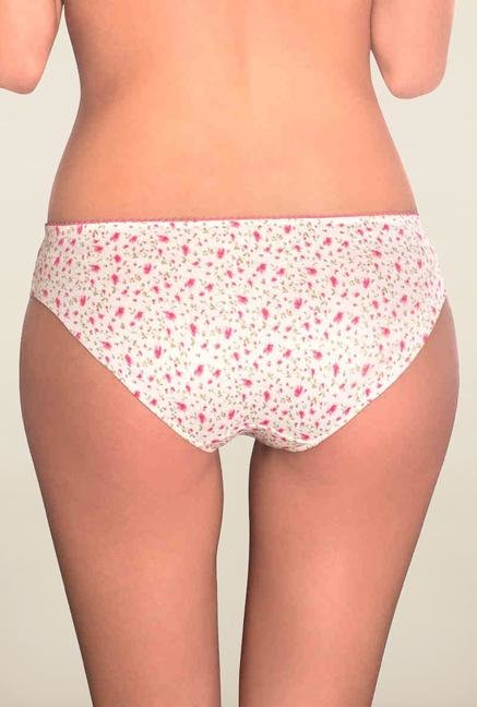 Amante White Floral Printed Panty