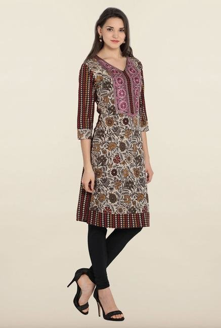 Soch Multicolor Embroidered Cotton Kurta