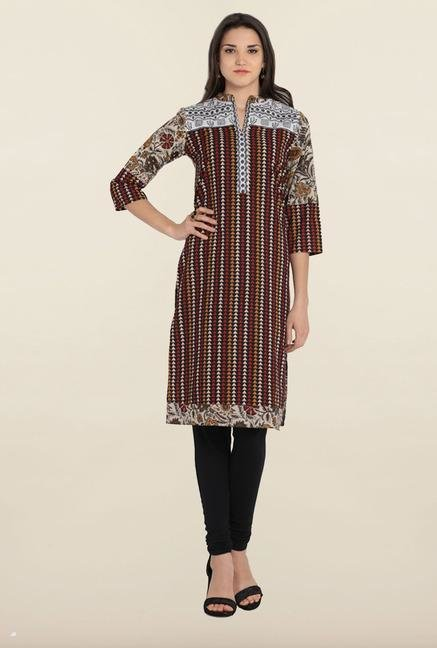 Soch Multicolor Geometric Printed Cotton Kurta