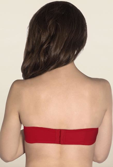 Amante Red Strapless Padded Bra