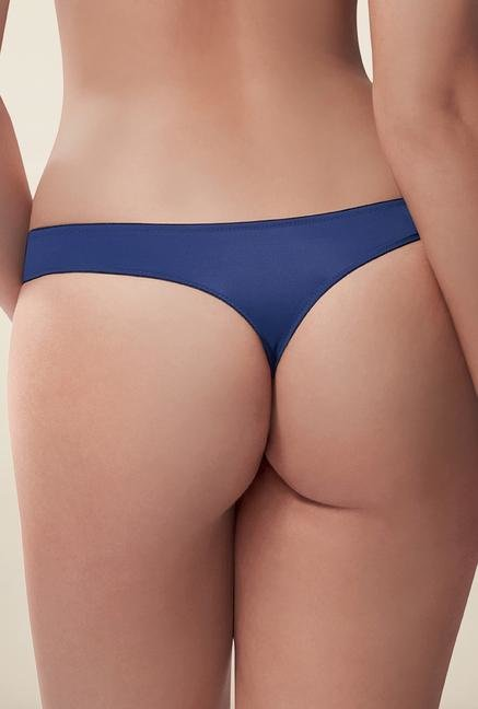 Amante Ink Blue Low Rise Thong
