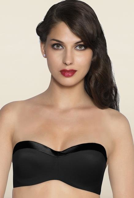 Amante Black Strapless Underwired Bra