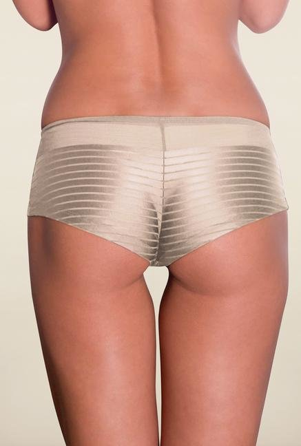 Amante Nude Striped Boyshort