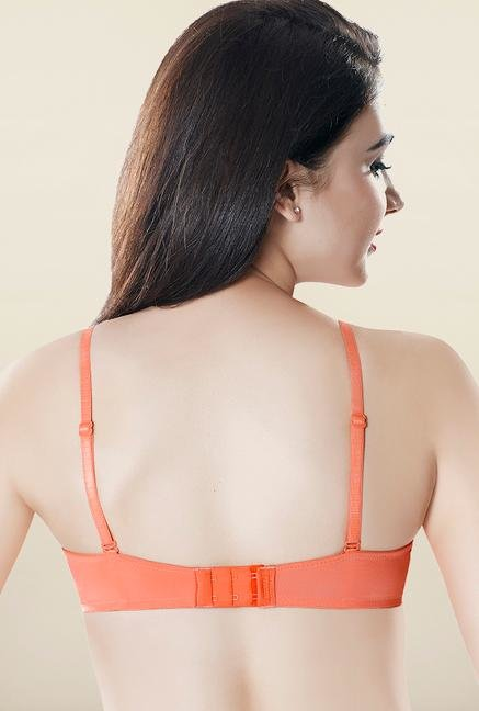 Amante Orange Non Wired Lace Bra