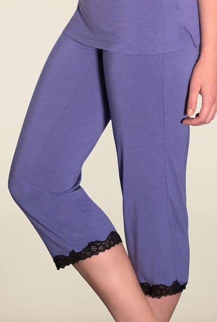 Amante Purple Lace Capris