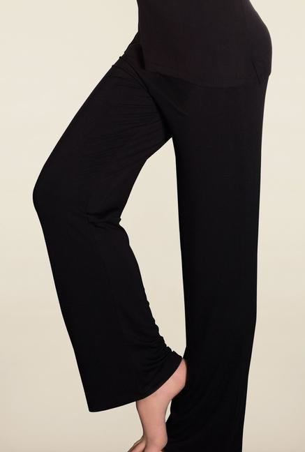Amante Black Solid Pyjamas