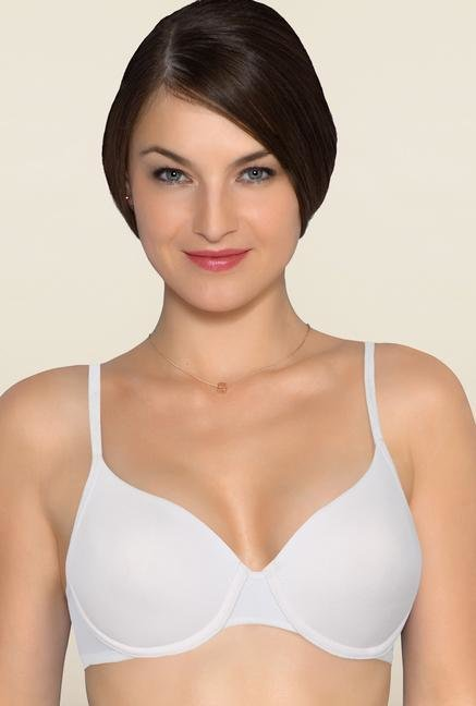 Amante White Underwired Seamless Bra