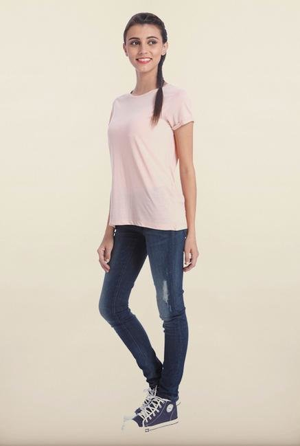 Only Pink Rose Solid T-Shirt