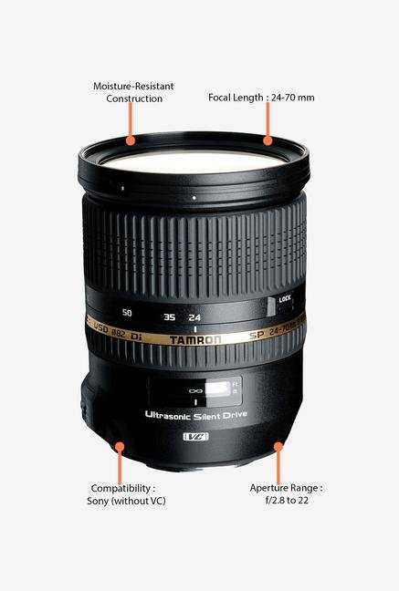 Tamron SP AF 24-70mm f/2.8 Di VC USD Lens for Sony DSLR