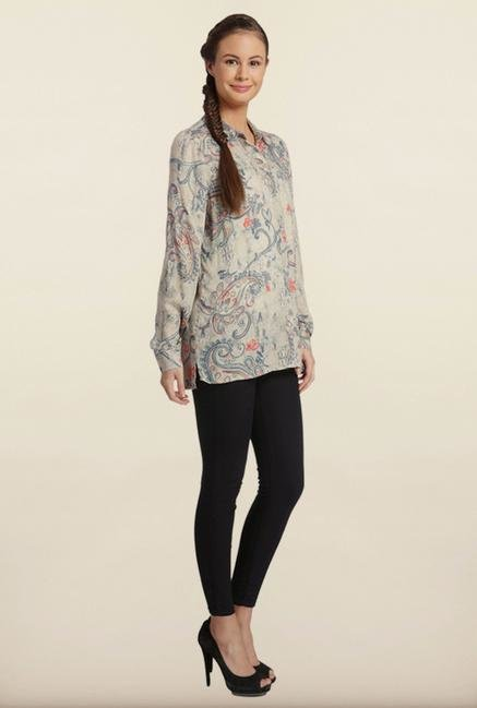 Only Grey Paisley Print Casual Shirt