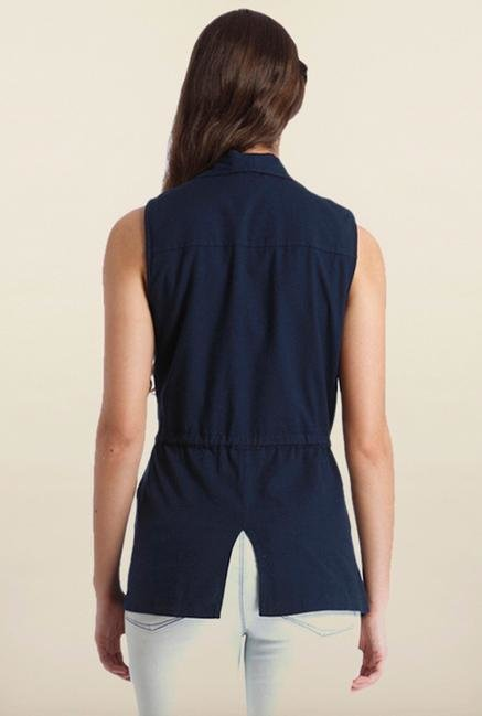 Only Navy Solid Waistcoat