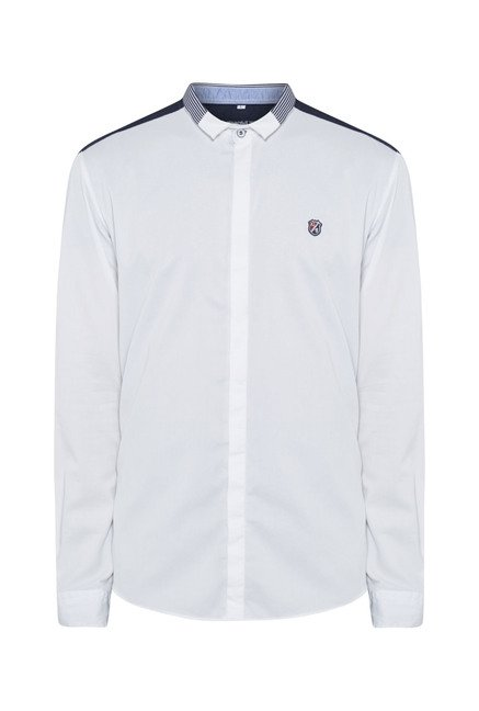 Killer White Slim Fit Casual Shirt