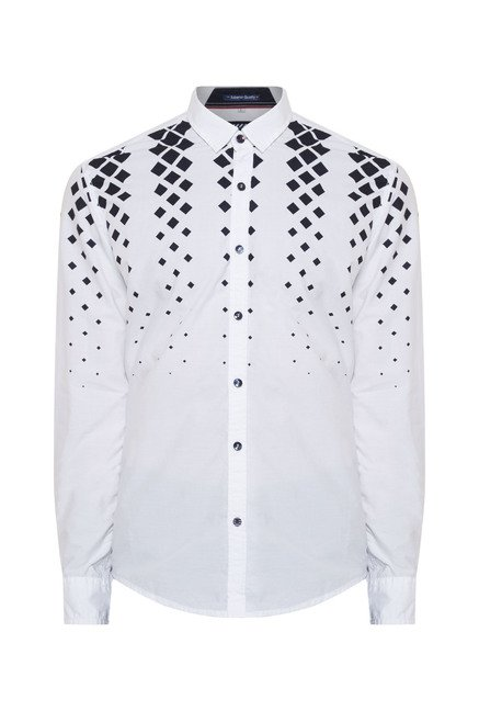 Killer White Printed Casual Shirt