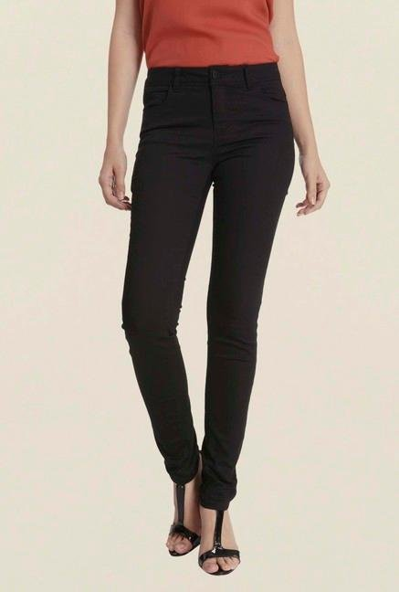 Only Black Solid Skinny Fit Chinos