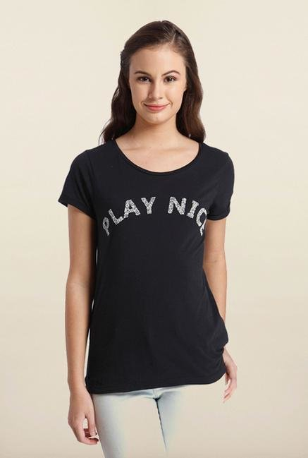 Only Black Printed T-Shirt