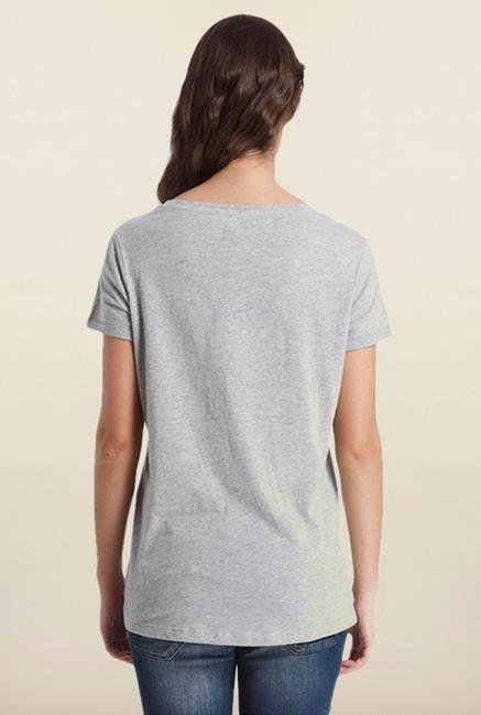 Only Dark Grey Printed T-Shirt