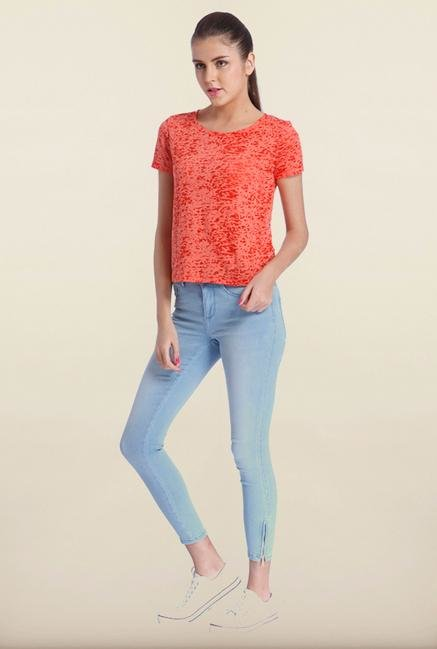 Only Red Lace Top
