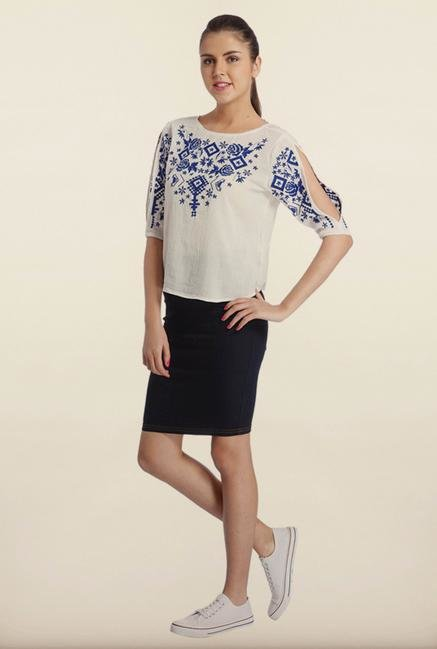 Only White Embroidered Top
