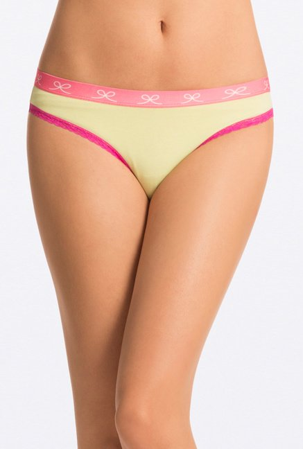 Pretty Secrets Lime, Aqua & Black Bikini Panties (Pack Of 3)