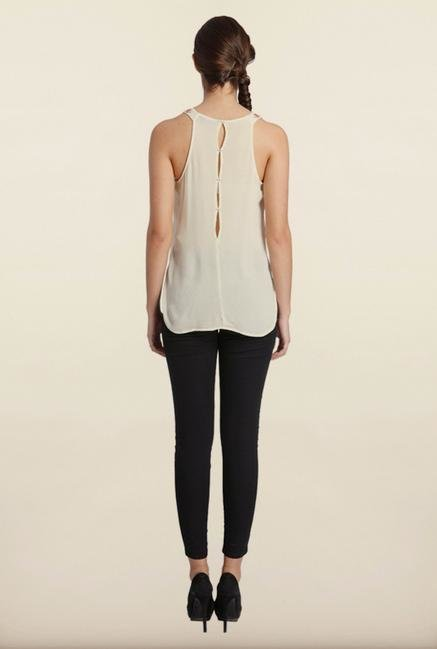 Only Bone White Embroidered Top