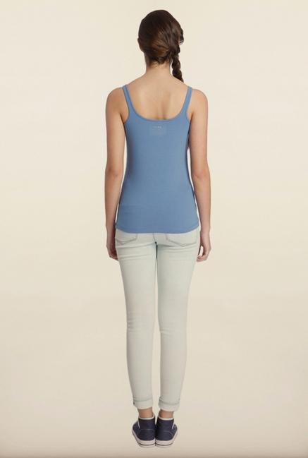 Only Blue Solid Tank Top