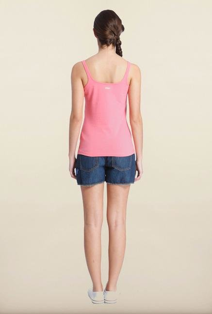 Only Pink Solid Tank Top