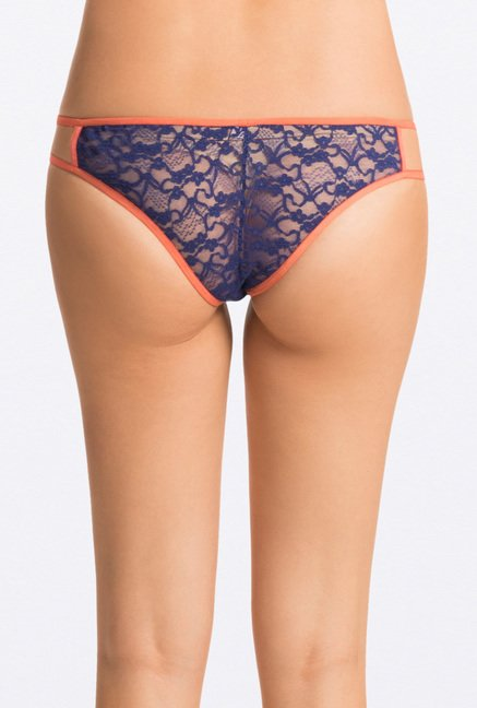 Pretty Secrets Lace G-String Panties (Magenta, Nude & Navy)