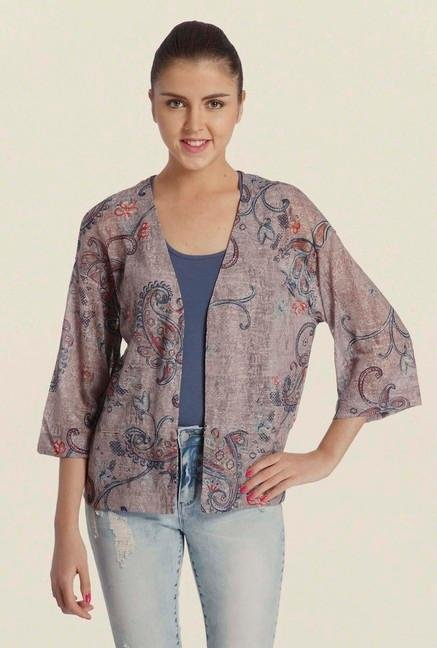 Only Multicolor Paisley Print Shrug