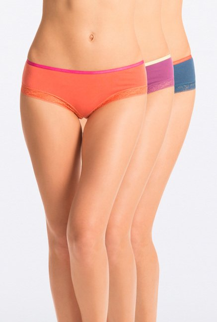 Pretty Secrets Hipster Panties (Orange, Purple & Blue)