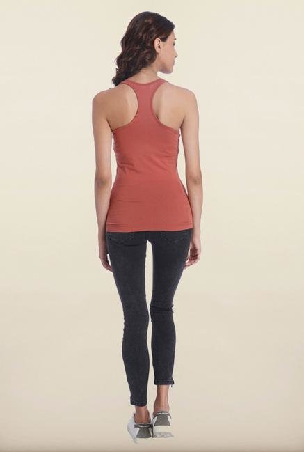 Only Marsala Solid Tank Top
