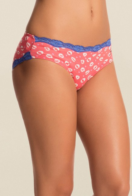 Pretty Secrets Coral & Brown Bikini Panties (Pack Of 2)