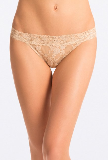 Pretty Secrets Lace Thong Panties (Red, Green & Beige)
