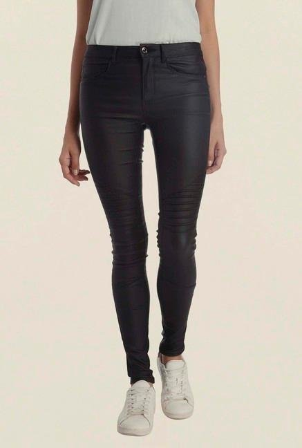 Only Black Skinny Fit Coated Jeans