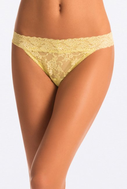 Pretty Secrets Lace Thong Panties (Yellow, Green & Red)