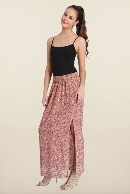 Only Pink Floral Print Maxi Skirt
