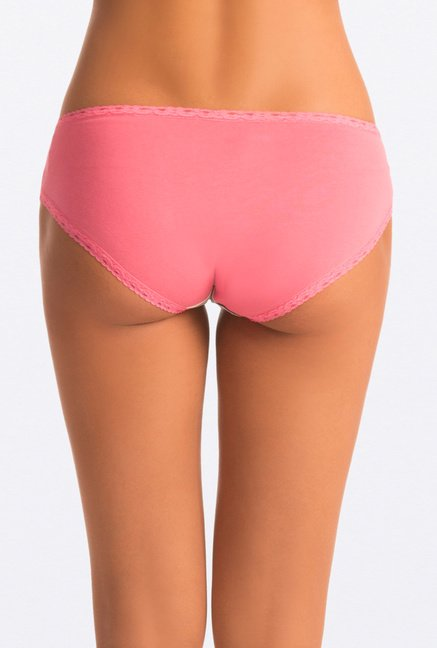 Pretty Secrets Pink & Black Hipster Panties (Pack Of 2)