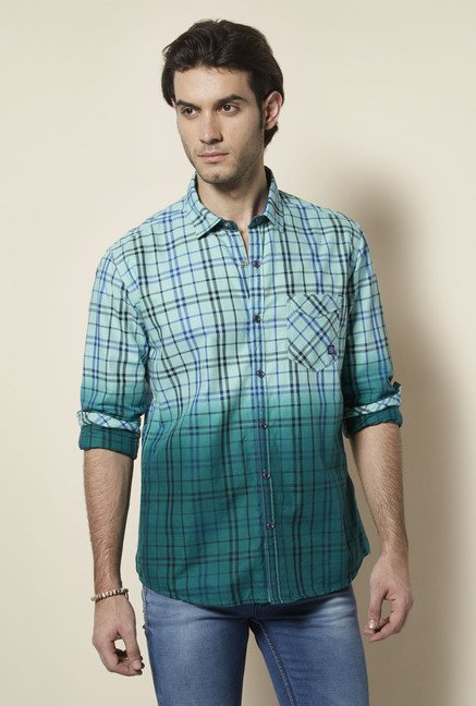 Killer Green Checked Casual Shirt