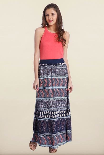 Only Multicolor Printed Maxi Skirt