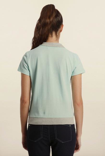 Only Blue Solid T-Shirt