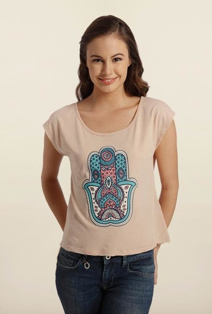 Only Misty Rose Printed T-shirt
