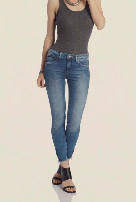 Only Light Blue Skinny Fit Denim Jeans
