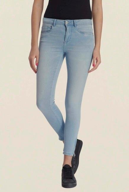 Only Light Blue Enzyme Wash Jeans