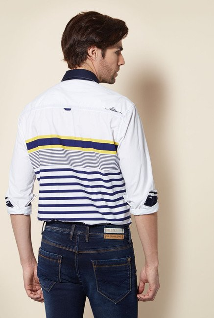 Killer Navy Striped Casual Shirt